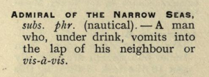 admiral of the narrow seas definition slang and its analogues