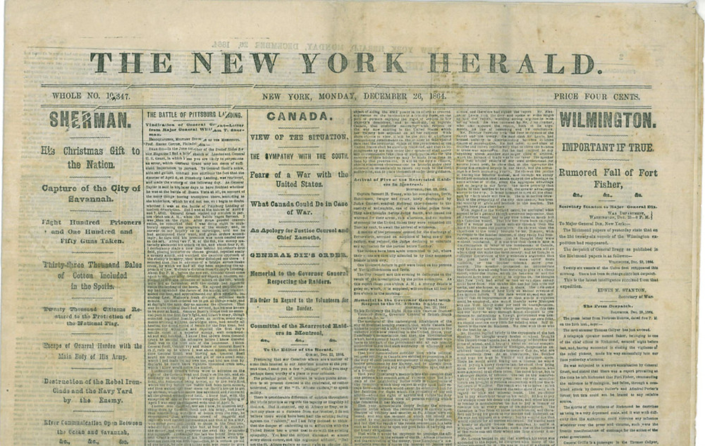 front cover of the new york herald