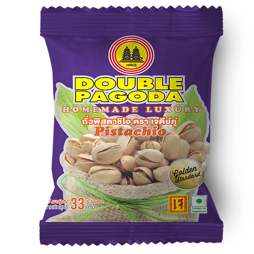 Double Pagoda salted roasted Pistachio 33 grams