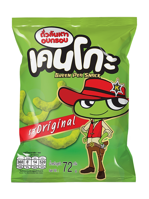 Kenko green pea snack original flavoured 72 grams