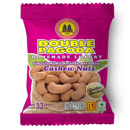 Double Pagoda salted roasted cashew nut 33 grams