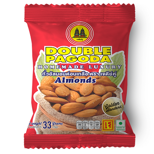 Double Pagoda salted roasted Almond 33 grams