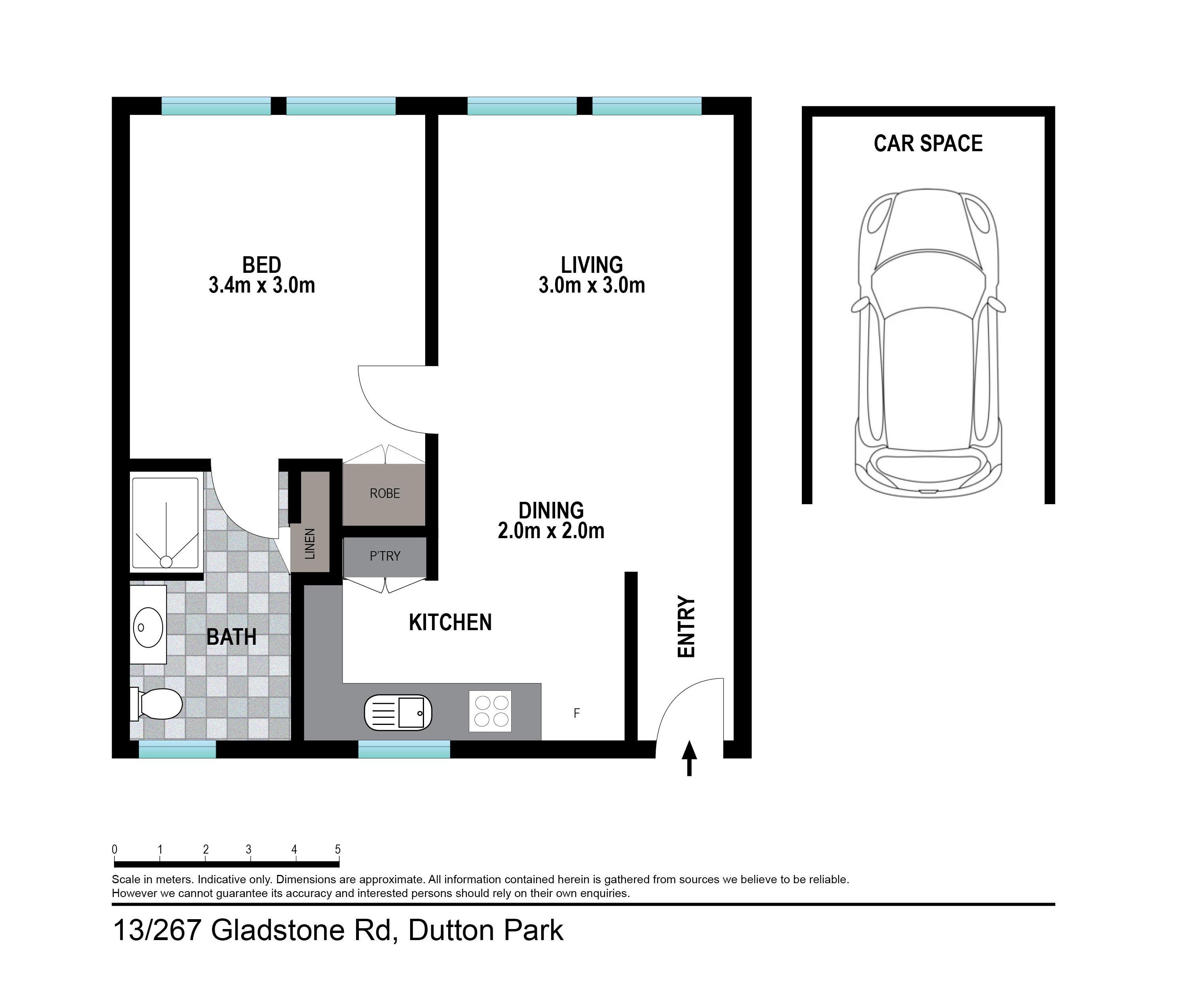 13/267 Gladstone Road Floor plan