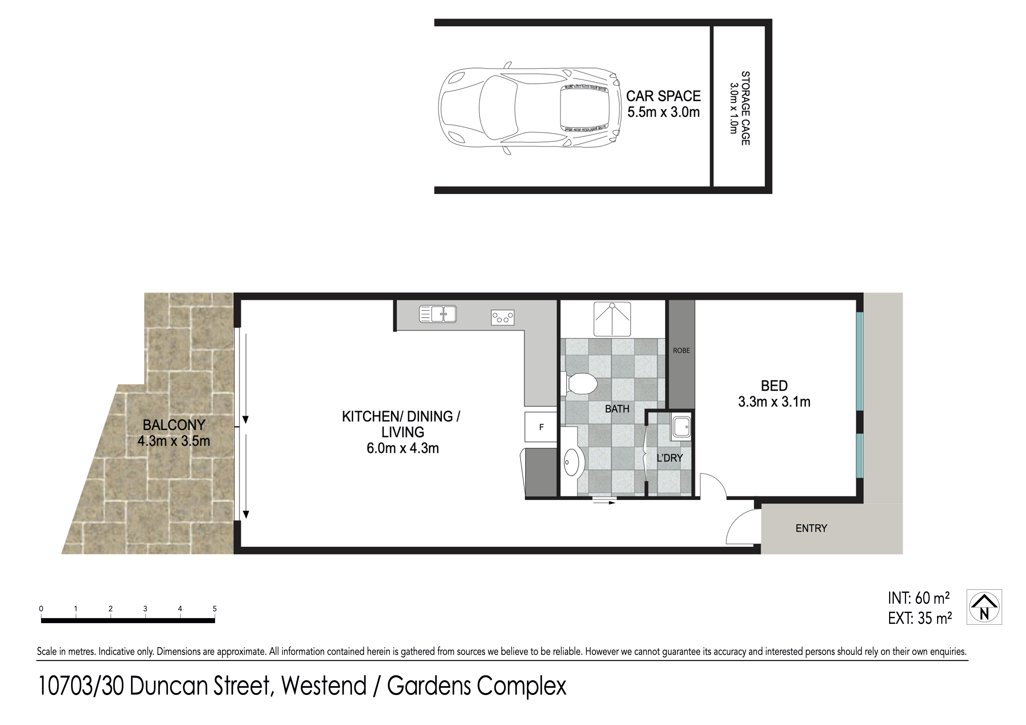 Floor plan - 10703/30 Duncan St, West End