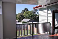 External balcony overlooking the yar
