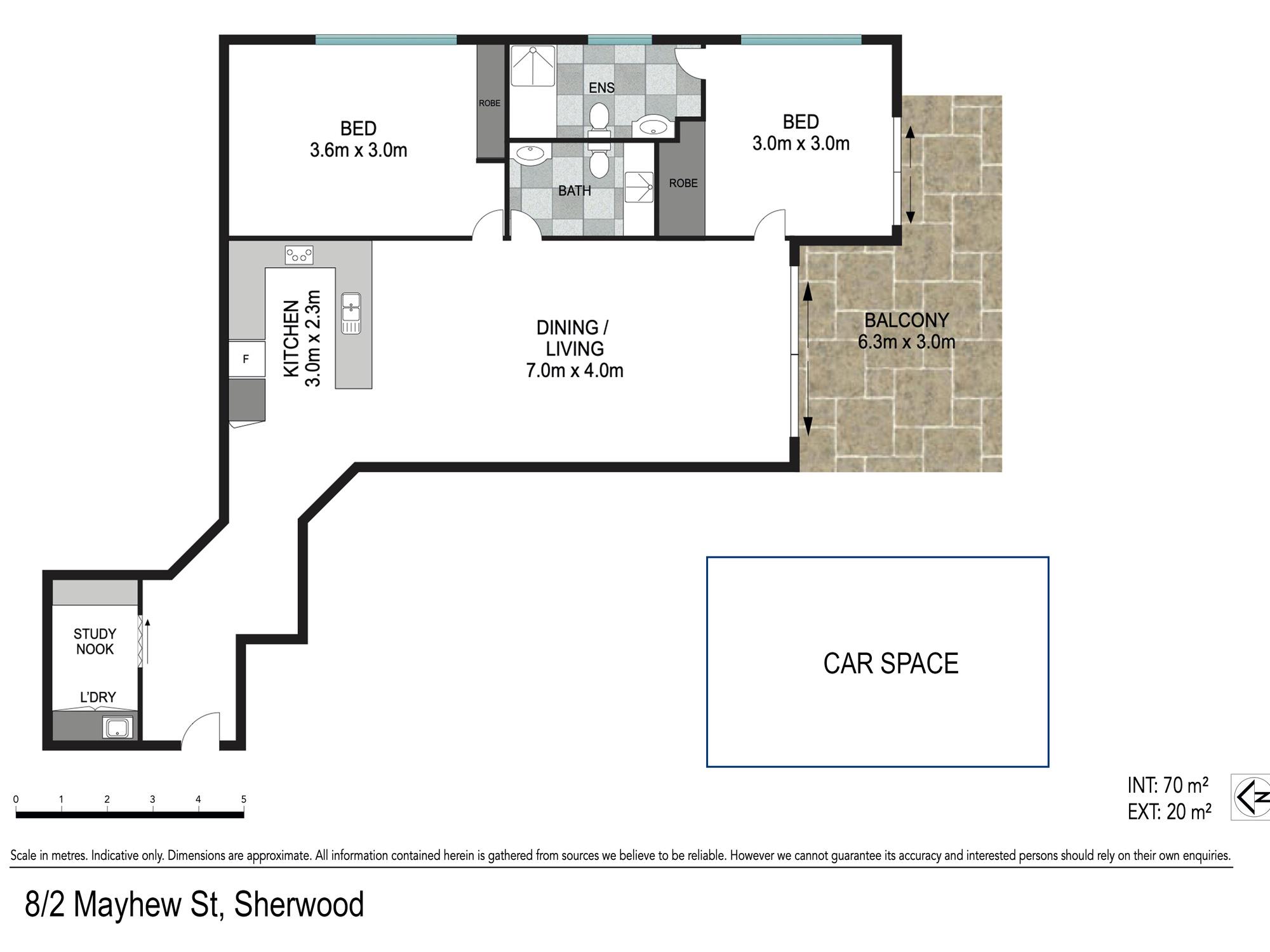 Floor plan - 2/512 Oxley Road, Sherwood