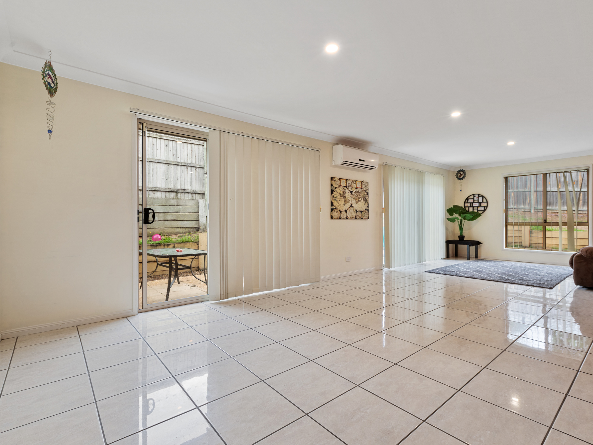 Tiled and open plan