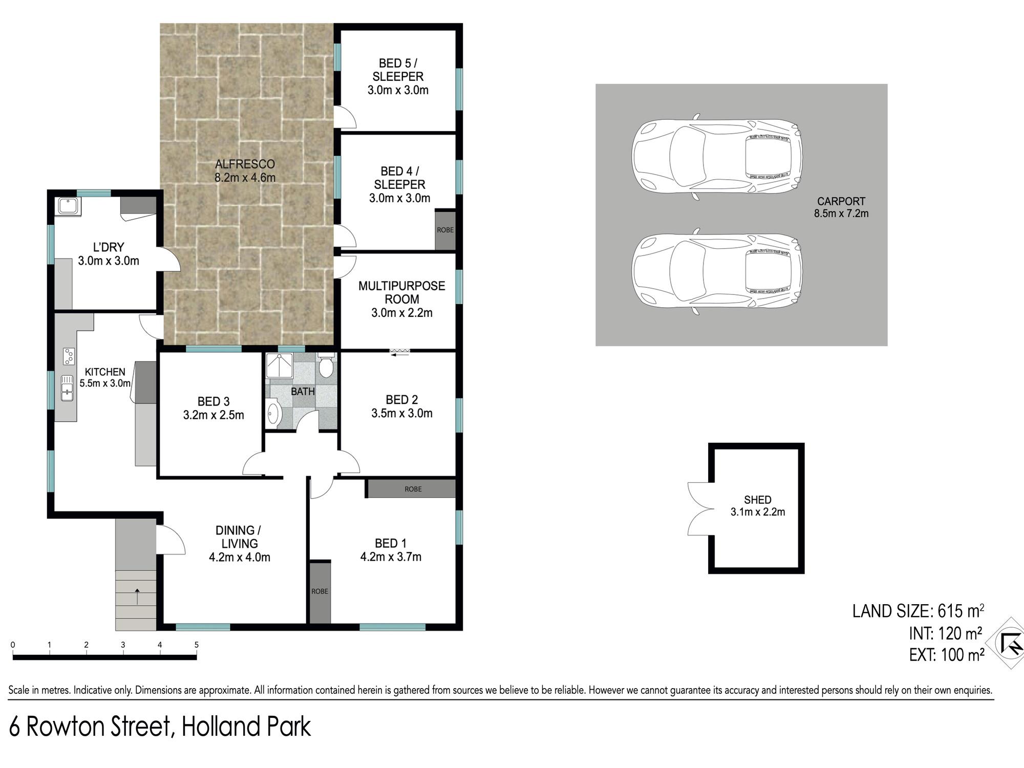 Floor plan - 6 Rowton St, Holland Park