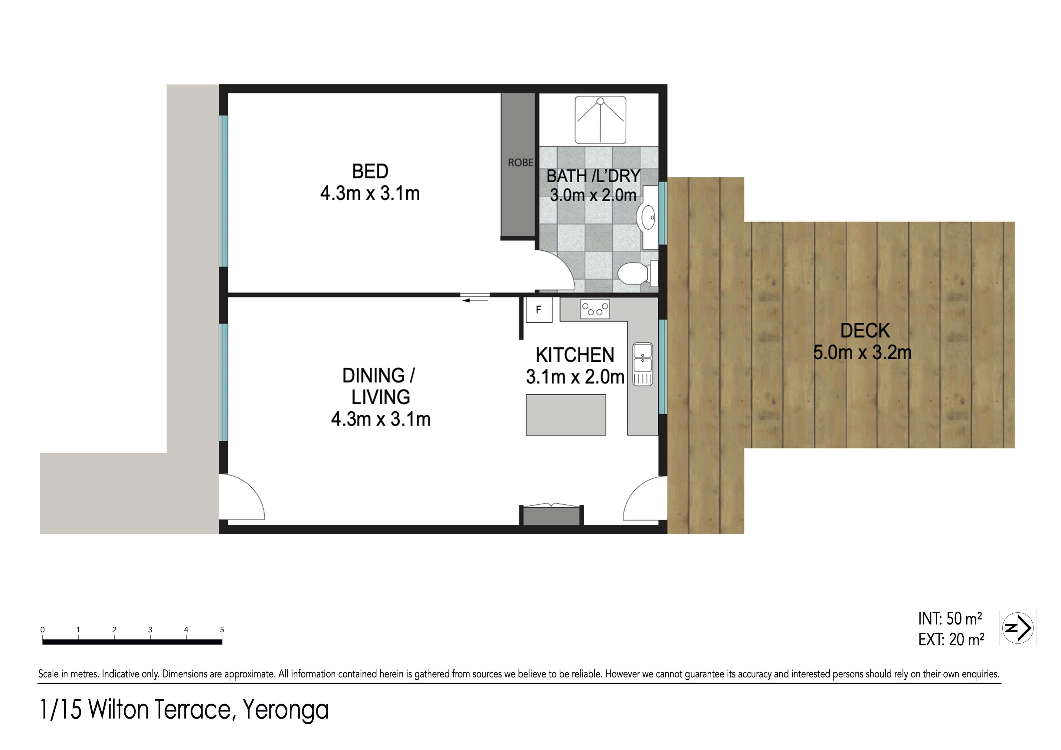Floor plan - 1/15 Wilton Tce, Yeronga