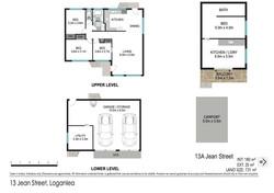 Floor plan - 13 Jean St, Loganlea