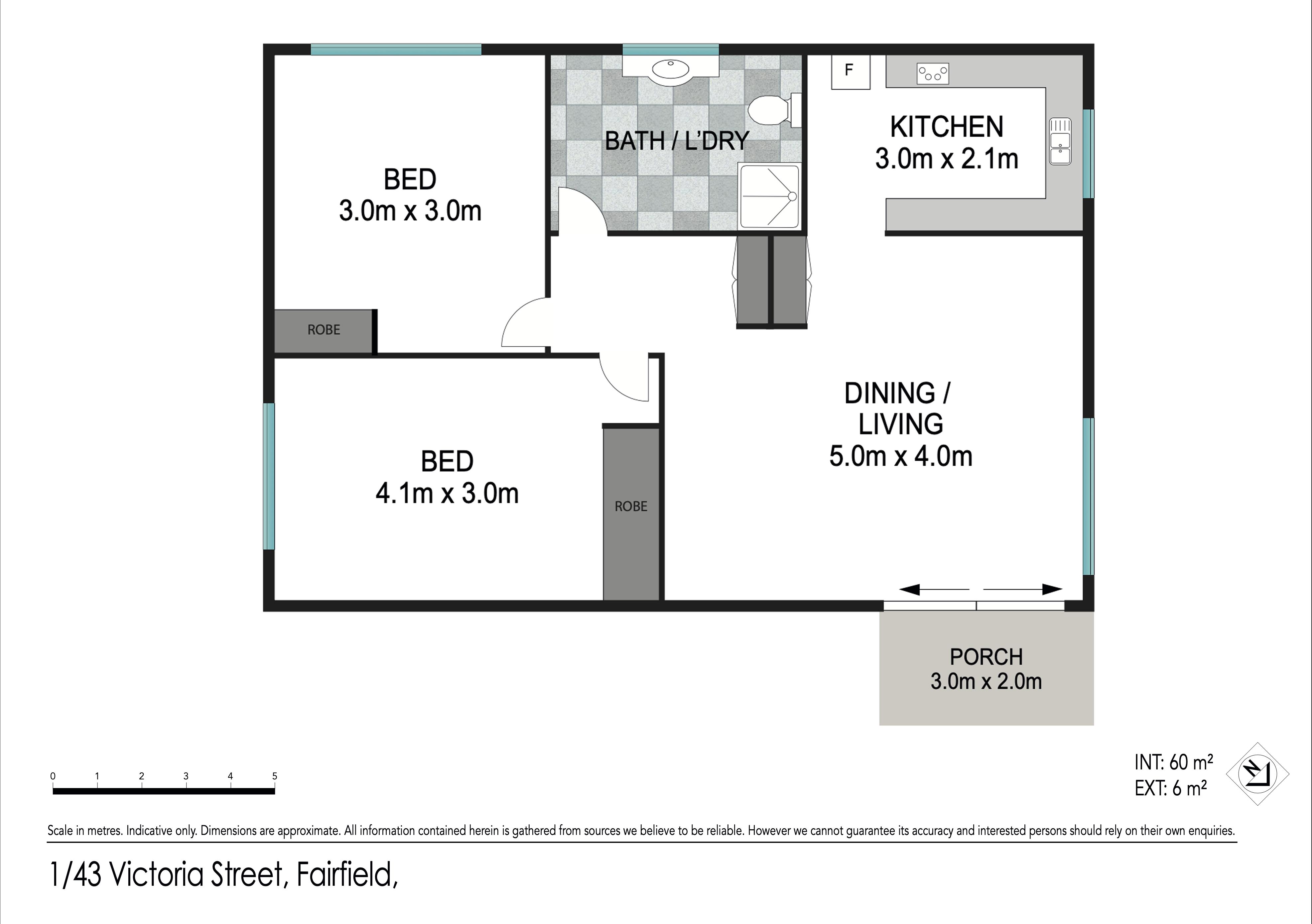 Floor plan 1/43 Victoria Street, Fairfield