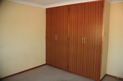 Master bedroom with built in robes