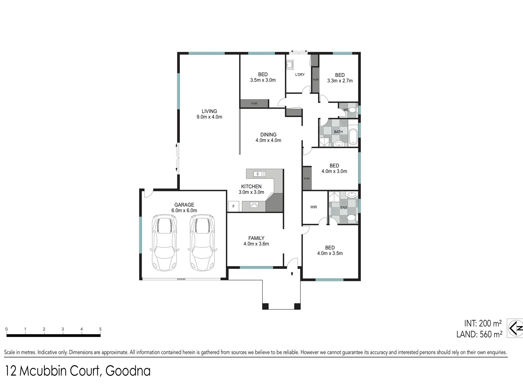 Floor plan - 12 McCubbin Court