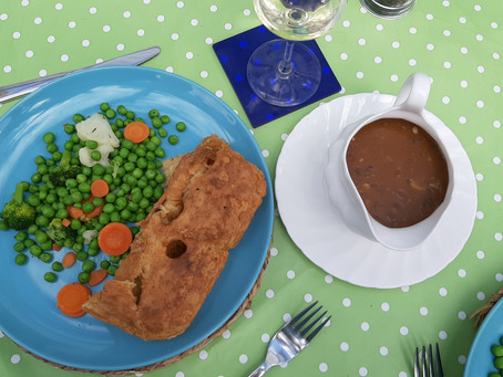 Vegan Toad-in-the-Hole with Onion Gravy
