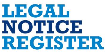 Legal Notice Register