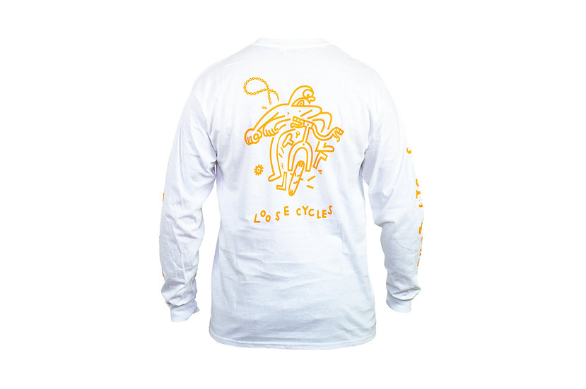 OH SHIT long sleeve - white