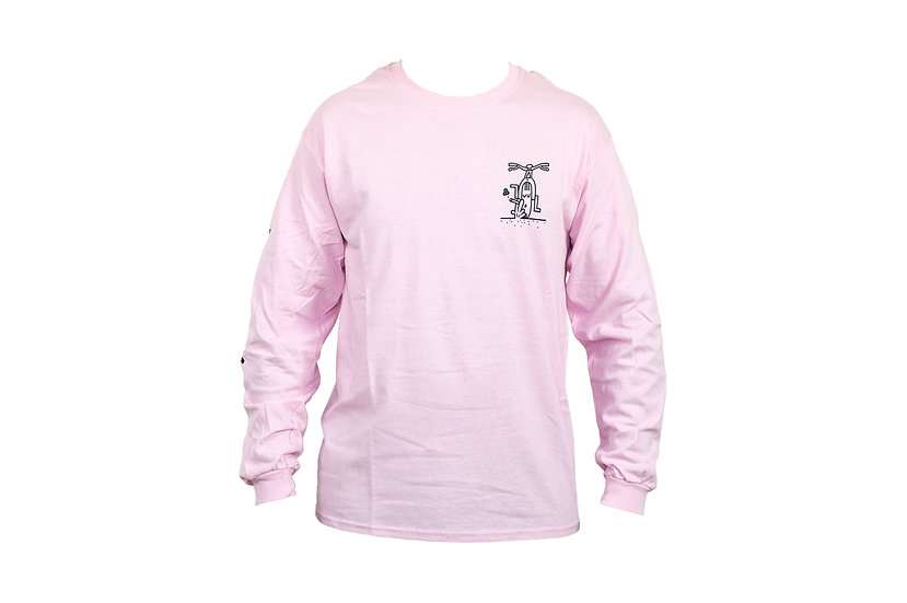 SMOKED long sleeve - pink