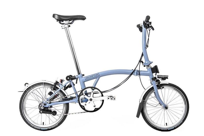 Brompton M6R folding bike - 2021 Cloud Blue