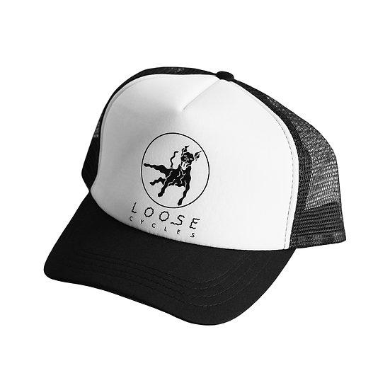 Loose Cycles Trucker Cap - black/white