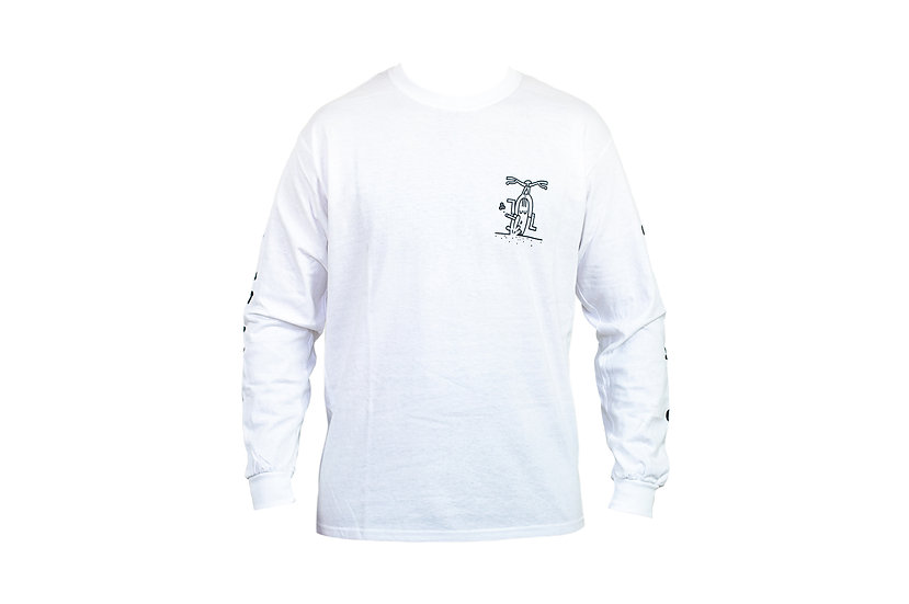 SMOKED long sleeve - white