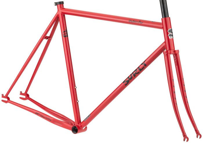 Surly Steamroller Frameset - Shag Carpet Orange - Medium (53cm)