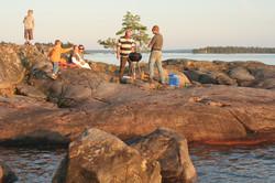 Aan de kust van het vänern