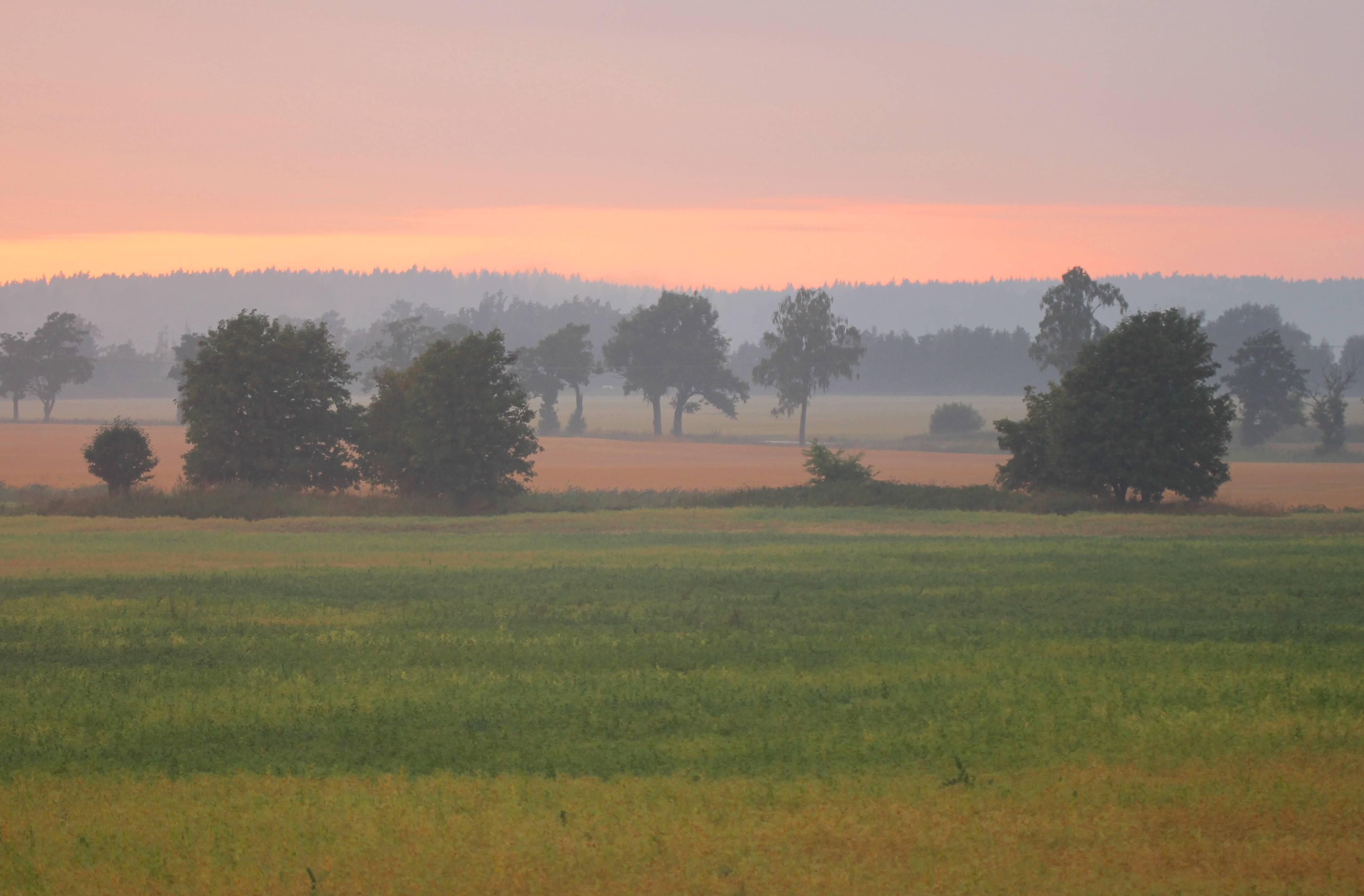 zonsondergang vakantiehuis in zweden