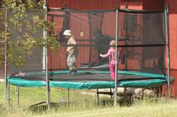 trampoline vakantiehuis in zweden