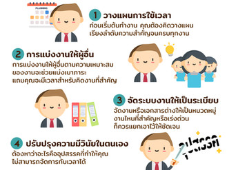 5 วิธีการบริหารเวลาขั้นเทพ