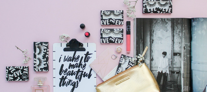 EVE Lashes packaging design