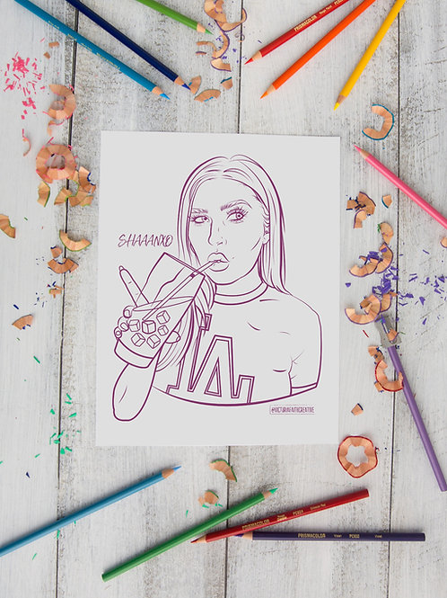 SHAAANXO Colouring Pages