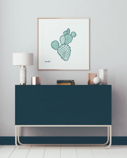 Illustration of cactus, part of Victoria's Summer 18 Collection