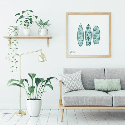 Illustration of surfboards, part of Victoria's Summer 18 Collection