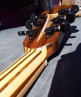 Manche en lamellé collé Wilgenbus guitars Luthier Réunion