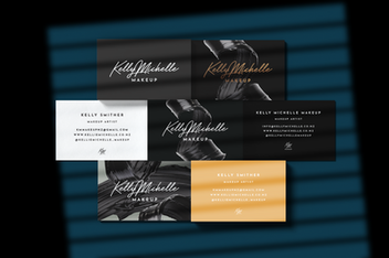 Kelly Michelle Makeup Business Cards