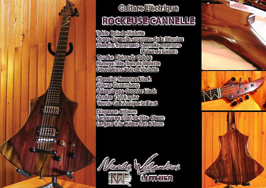 Rockeuse cannelle Nicolas WIlgenbus Luthier Réunion