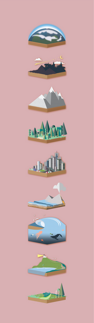 Environment illustrations