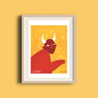 Affiche A5 Diable