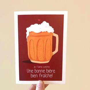 Carte double bière