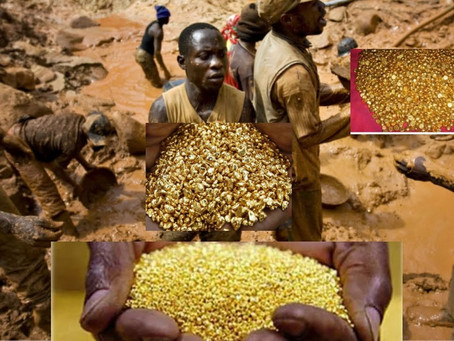 Congolese villagers discover a whole mountain full of Gold.
