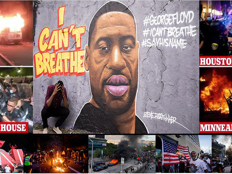 Protests erupt across the US over the killing of an unarmed African-American man, George Floyd.