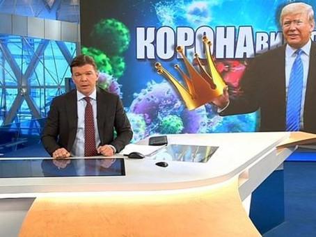 """Coronavirus    Russian media hint the virus is a US """"bio-weapon"""" programme."""