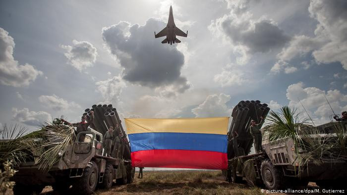 A Russian-made Sukhoi SU-30 participates in a military exercise in Venezuela in 2015