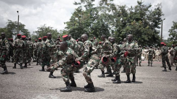 New recruits for the Central African Armed Forces (FACA)