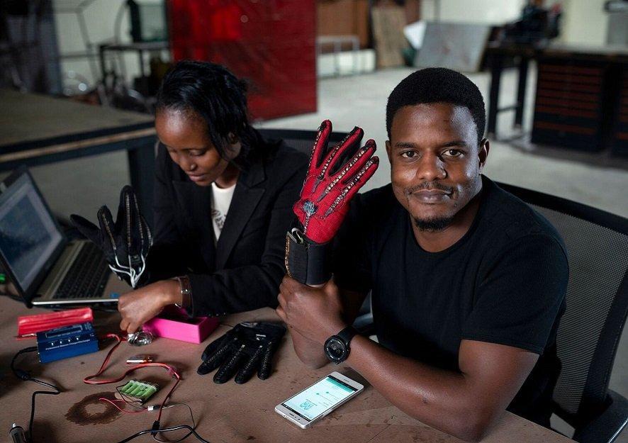 Roy Allela invents a set of smart gloves