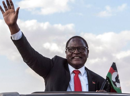 For the 1st Time in Africa's History, the Opposition Candidate wins Elections rerun in Malawi.