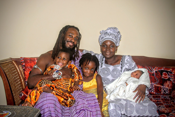 Dr. Obadele Kambon and his family.