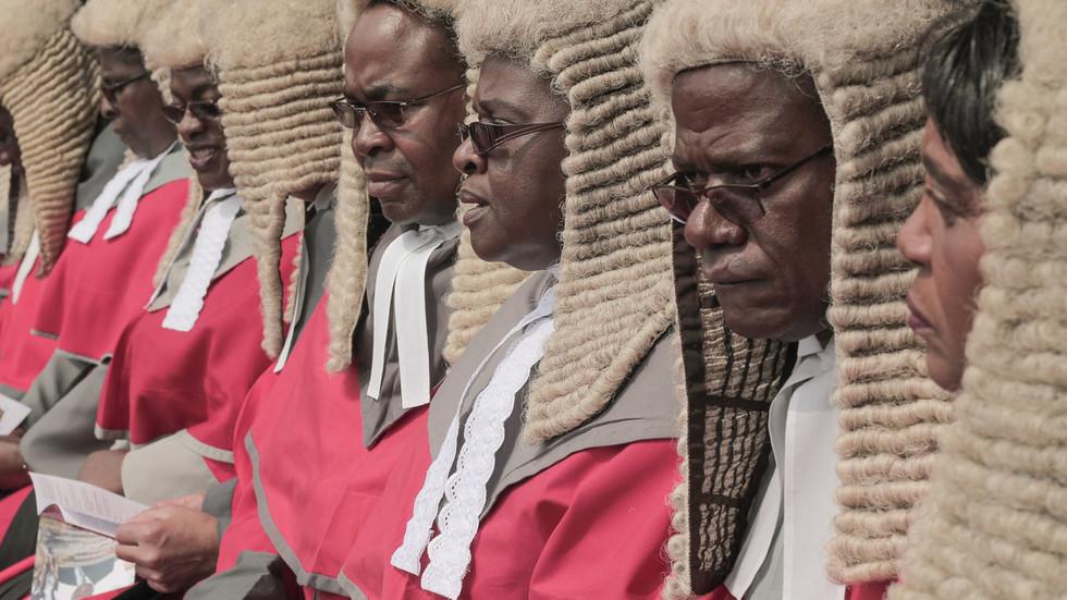 Chief judges of the Supreme Court of Zimbabwe. © Belal Khaled/NurPhoto via Getty Images