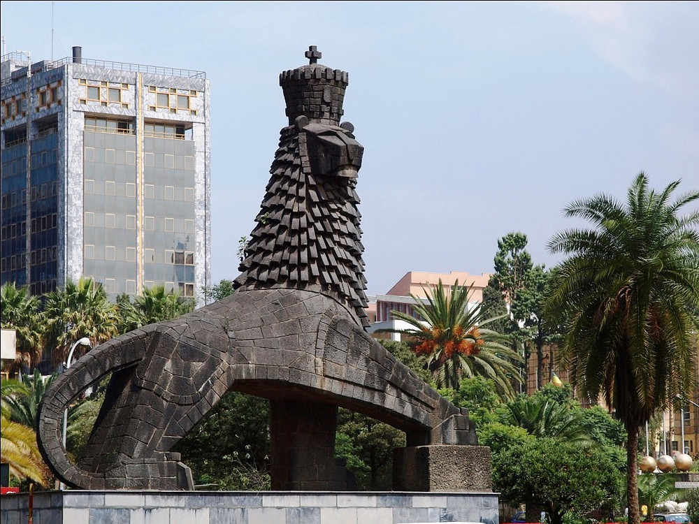 Lion Statue in Addis Ababa, Ethiopia