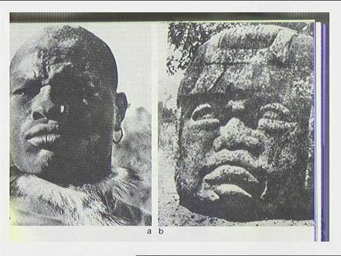 Striking resemblance of Present day Africans and the heads of the Olmec civilization